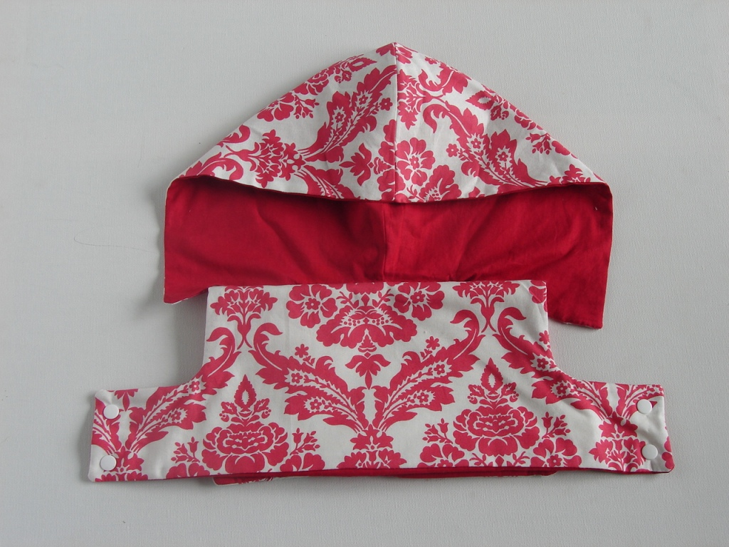 front of cover with hood