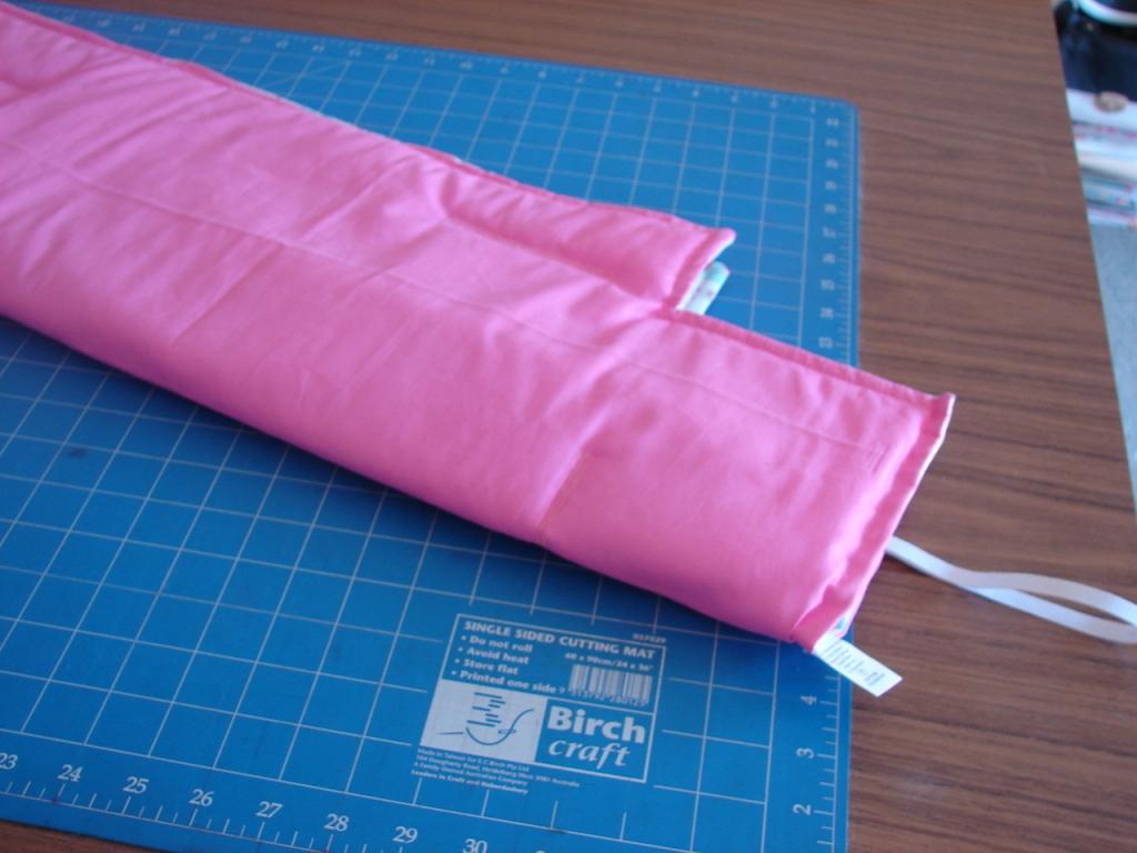 fold liner in half