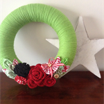 Christmas Wreath Decoration from One Pear