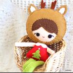 christmas deer girl doll from joyfoolery