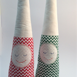 One pair Christmas snoozing gnomes  from Pink Pennants