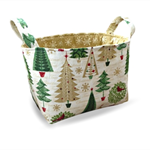 Christmas Tree Fabric Storage Tub  from Pumpkin Pie Creations