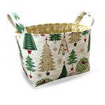 Christmas Tree Fabric Storage Tub  from Pumpkin Pie Creations