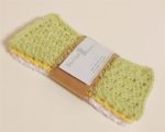 Crochet Face Cloth, Cotton set of 3 in Citrus from Boutique Creations