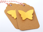 10 pack of yellow butterfly gift tags from Happy Day Handmade