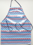 Kids Blue and Red Ajustable Apron from Little Poompkins