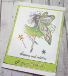 Fairy Happy Birthday card from butterfly creations