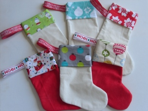 Mini Christmas stockings available in the gift sets