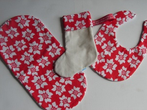 Christmas flower print gift set